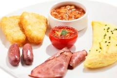 Een traditioneel ontbijt Stock Foto
