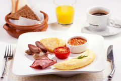 Een traditioneel ontbijt Stock Afbeelding