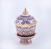 Een traditioneel Thais vijf-gekleurd beroemd porselein Stock Afbeeldingen
