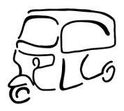 Een traditionele die taxi in Indonesië als Bajaj wordt bekend royalty-vrije stock afbeelding