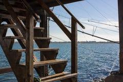 Een trap in het midden van het overzees Royalty-vrije Stock Fotografie