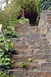 Een trap in stenen Stock Afbeelding
