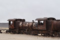 Een treinbegraafplaats Royalty-vrije Stock Afbeeldingen