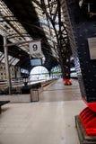Een treinplatform Royalty-vrije Stock Foto's