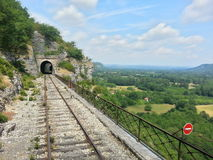 Een treinspoor Stock Foto's
