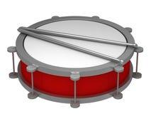 Een trommel met trommelstokken stock illustratie