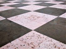 Een tweekleurige vloer stock foto