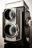 Een tweeling-lens reflexcamera (TLR) Royalty-vrije Stock Foto
