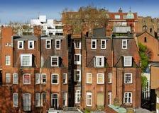 Een typisch red-brick gebouw van Londen. Stock Afbeelding