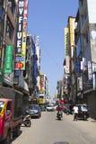 Een typische Aziatische straatmarkt Stock Foto's