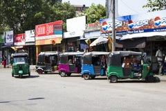 Een typische Aziatische straatmarkt, Colombo, Sri Lanka Stock Foto's