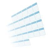 Het tijdschema verdwijnt aan Wit langzaam Royalty-vrije Stock Afbeelding