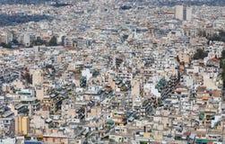 Dichte woonwijk in Athene, Griekenland royalty-vrije stock foto
