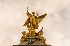 Een typische mening bij Buckingham Palace stock foto's