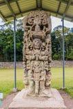 Een typische mening bij Copan-Ruïnes in Honduras royalty-vrije stock foto's