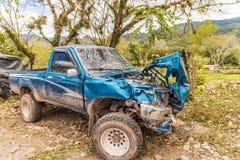 Een typische mening in Copan-Stad in Honduras stock foto's
