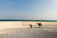 Een typische mening in de eilanden van San Blas stock foto