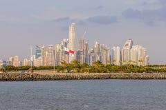Een typische mening in de Stad van Panama in Panama royalty-vrije stock afbeelding