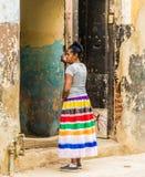 Een typische mening in Havana in Cuba royalty-vrije stock afbeelding