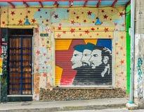 Een typische mening in Medellin in Colombia stock afbeeldingen