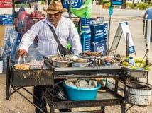 Een typische mening in San Salvador in El Salvador stock afbeelding