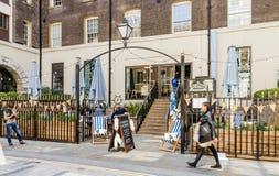 Een typische mening van de Stad van Londen royalty-vrije stock foto's
