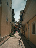 Een typische straat in Zante-Stad stock foto's