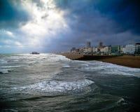 Een uitgebrande pijler van de kosten van Brighton Stock Afbeeldingen