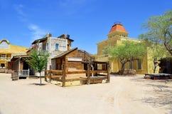 Een uitstekend dorp van Oud Tucson Stock Foto