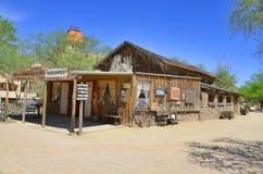 Een uitstekend dorp van Oud Tucson Stock Afbeelding