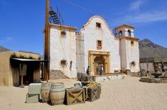 Een uitstekend dorp van Oud Tucson Stock Afbeeldingen