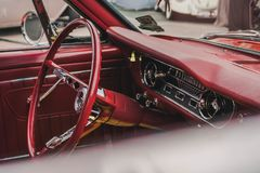Een Uitstekende Auto bij een Festival in Melbourne royalty-vrije stock foto's
