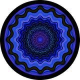 Een ultraviolette vectormandala Royalty-vrije Stock Foto's