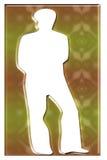 Een unisex-silhouet stock illustratie