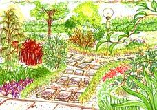 De Schets van de tuin Royalty-vrije Stock Afbeelding