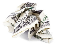 Geïsoleerdt Geplooid Contant geld Stock Foto's