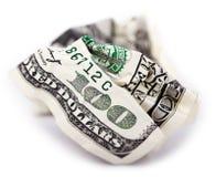 Geïsoleerd. Geplooid Contant geld Royalty-vrije Stock Foto