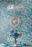 Een vaas met bloemen Stock Afbeelding