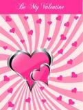 Een valentijnskaartenachtergrond Royalty-vrije Stock Fotografie