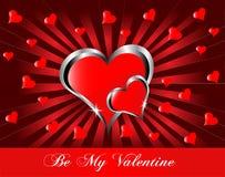 Een valentijnskaartenachtergrond Stock Afbeelding