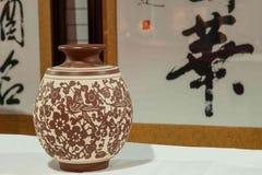 Een van het het aardewerkaardewerk van Rongchang Chongqing Rongchang het museumtentoonstelling Stock Foto