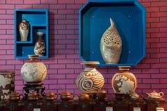 Een van het het aardewerkaardewerk van Rongchang Chongqing Rongchang het museumtentoonstelling Royalty-vrije Stock Foto
