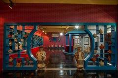 Een van het het aardewerkaardewerk van Rongchang Chongqing Rongchang het museumtentoonstelling Stock Afbeelding