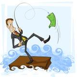 Een vangst is Zakenman royalty-vrije illustratie