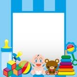 Een Vectorbeeldverhaal Leuke Baby en Speelgoed met, Raad voor Tekst vector illustratie