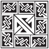Een vectorillustratie van een Keltische patroon en een knoop Stock Illustratie