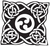 Een vectorillustratie van een Keltische patroon en een knoop Vector Illustratie