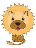 Een vectorillustratie van een leuke leeuw Stock Afbeelding