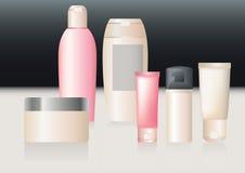 Een vectorpak schoonheidsmiddelen. Stock Fotografie