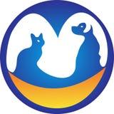 Kat en hond Royalty-vrije Illustratie